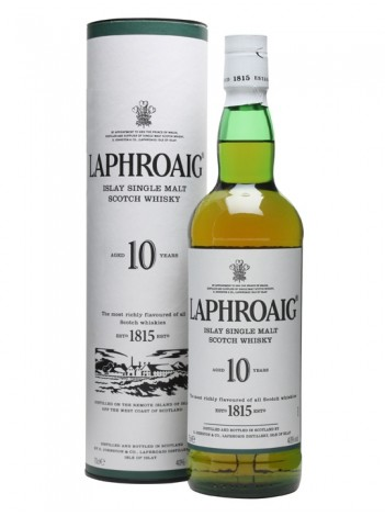 Laphroaig 10 Year Old Single Malt Scotch Whisky, Islay 40% 70cl