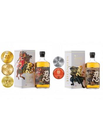 Shinobu 忍 Blended Whisky Mizunara finish 43% 70cl + Shinobu 忍 Pure Malt Mizunara finish 43% 70cl