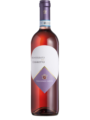 Capetta Monferrato DOC Chiaretto Francesco Rosé12% 75ml